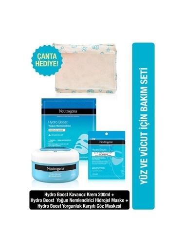 Neutrogena Hydro Boost Kavanoz Krem 200Ml+Yoğun Nemlendirici Maske+Yorgunluk Karşıtı Göz Maskesi Renksiz